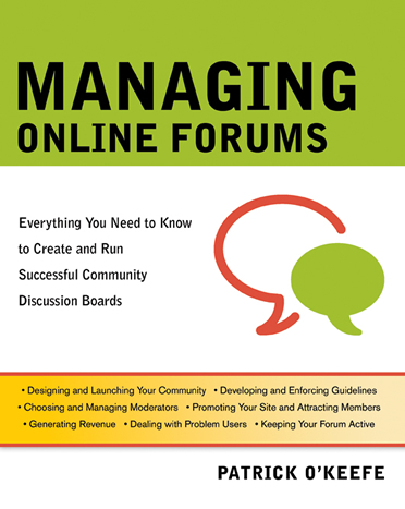 Managing Online Forums Book Cover